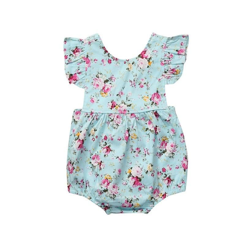 7ad9d8d3be7d 2018 Flower Baby Girls Clothing Newborn Baby Girl Floral Rompers ...