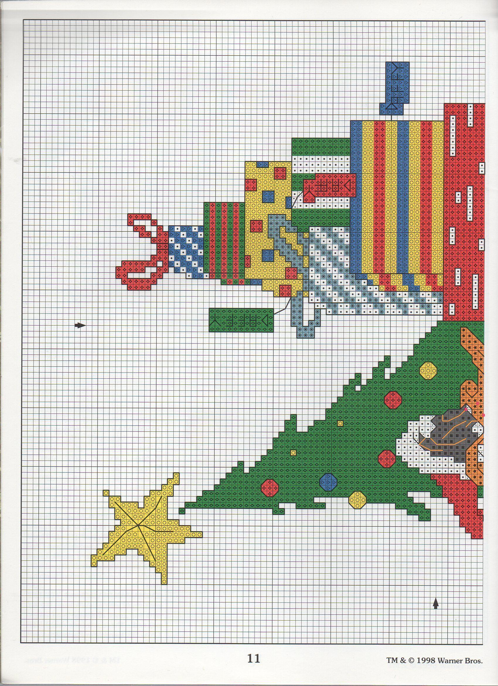 Christmas daffy 1 xmas cross stitch disney cross stitch