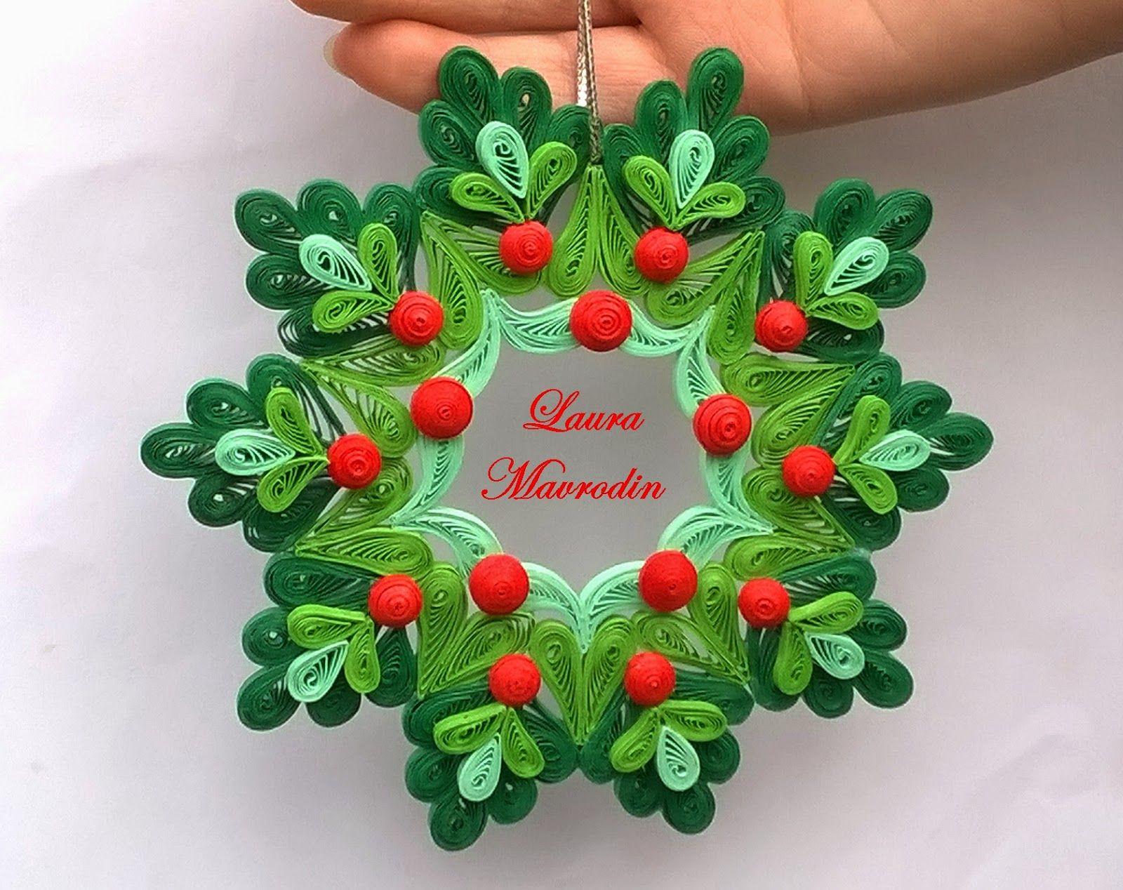 Corona filigrana pinterest filigrana patrones y - Ornamentos de navidad ...