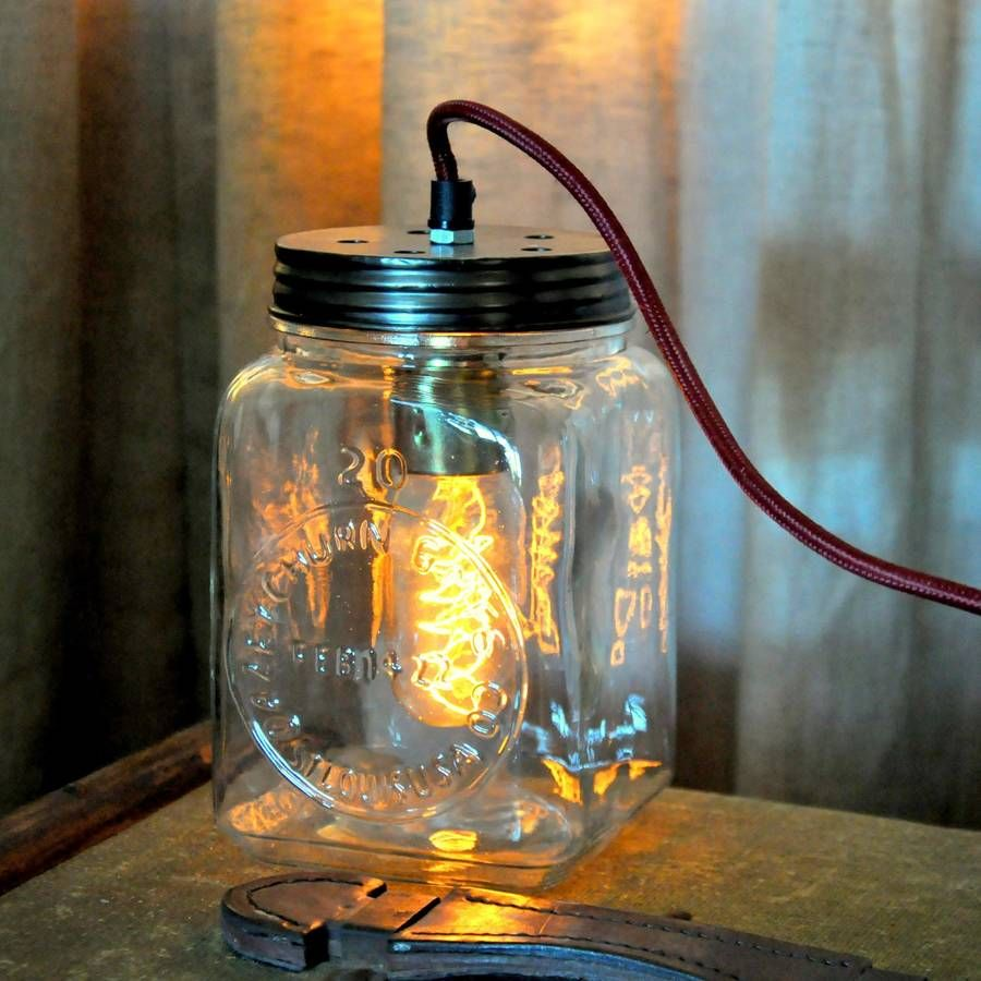 Glass Jar Table Lamp Bedroom Ideas Vintage Pendant Lighting