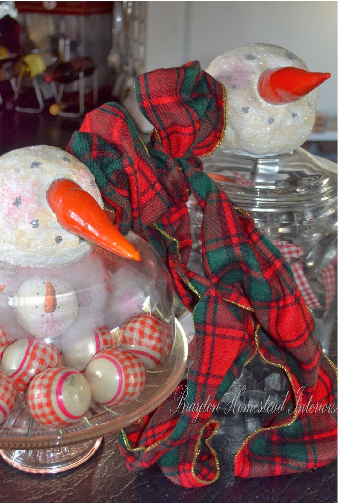 BRAYTON HOMESTEAD INTERIORS: Snowman jars in the kitchen