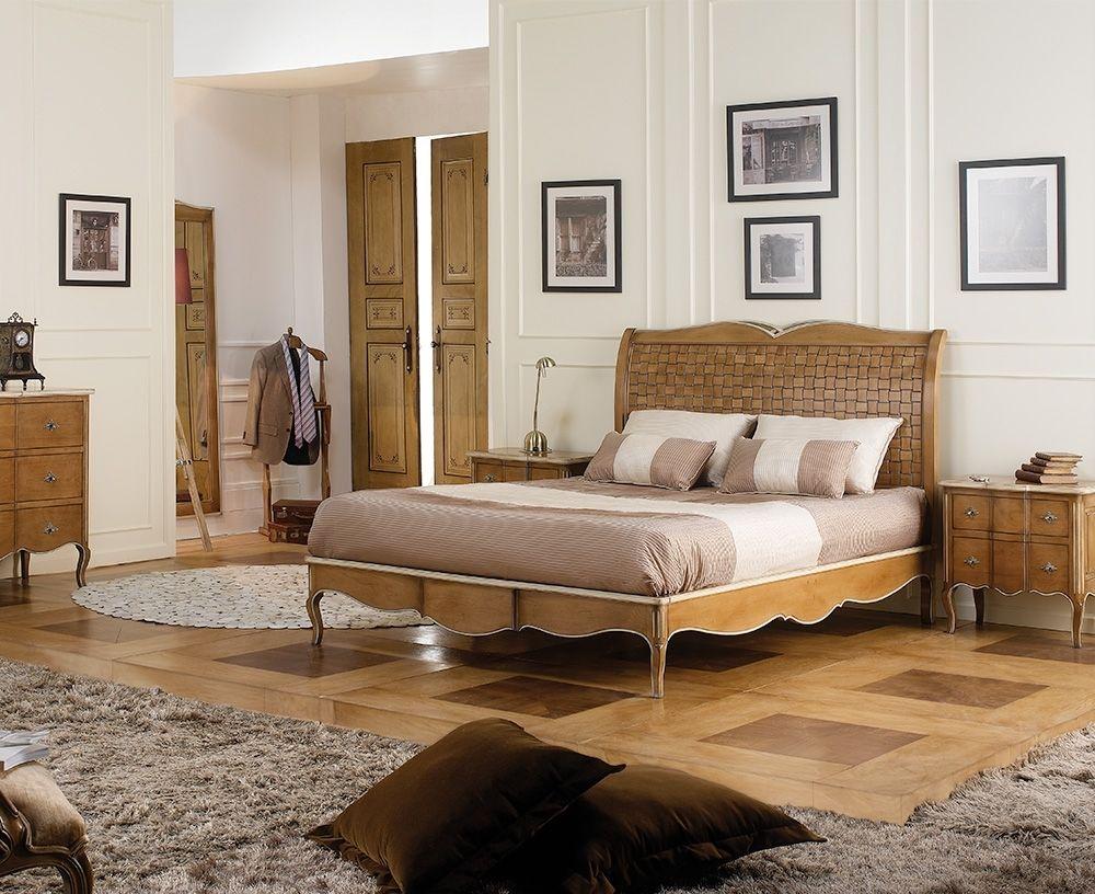 Dalila Handgemachte Französisch Holz Bett In Kirschbaum