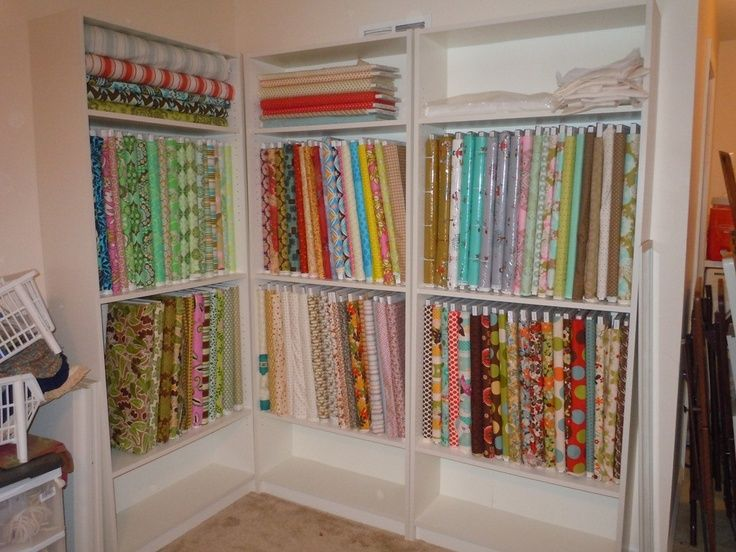 Billy Ikea Fabric Bolt Storage Sewing Room Ideas Pinterest Sewing Rooms Sewing Room Organization Ikea Fabric