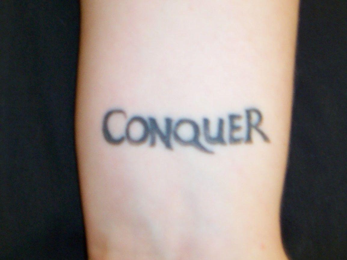 conquer tatto  small tatto men woman  arm tattoo  best tatto best tattoos