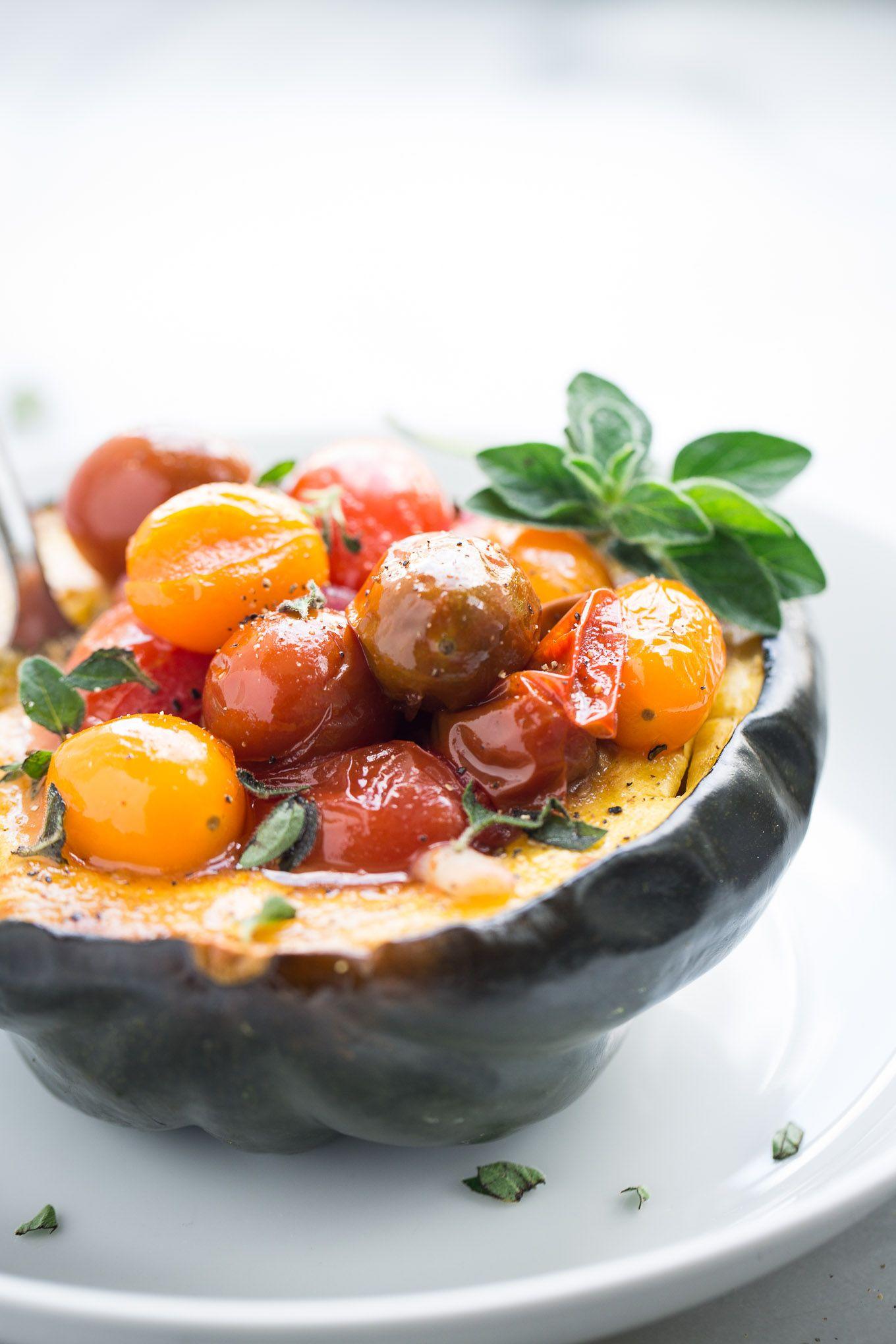 Acorn Squash Tomato Bowls Recipe With Images Acorn Squash