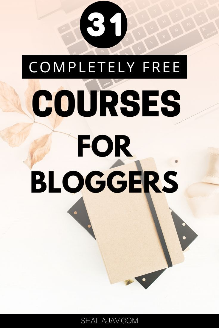 Start your blogging journey with this ultimate list of free blogging courses. Learn how to start a blog, Pinterest Tips for Traffic, SEO, social media marketing, designing and branding, growing an email list and how to make money from blogging. #Courses #ContentMarketing