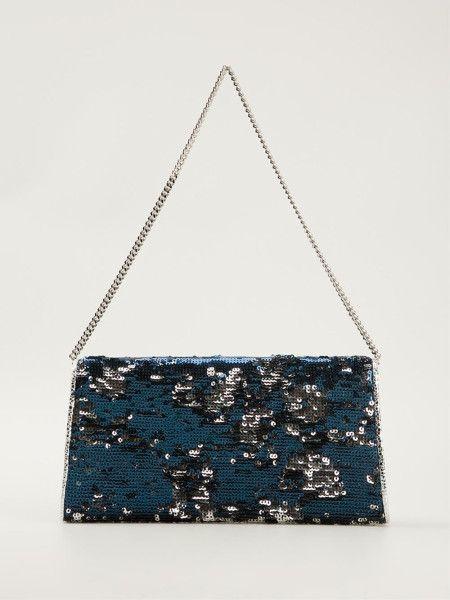 a7371139dec5 Jimmy Choo Embellished Effect Margot Clutch Bag in Blue - Lyst ...