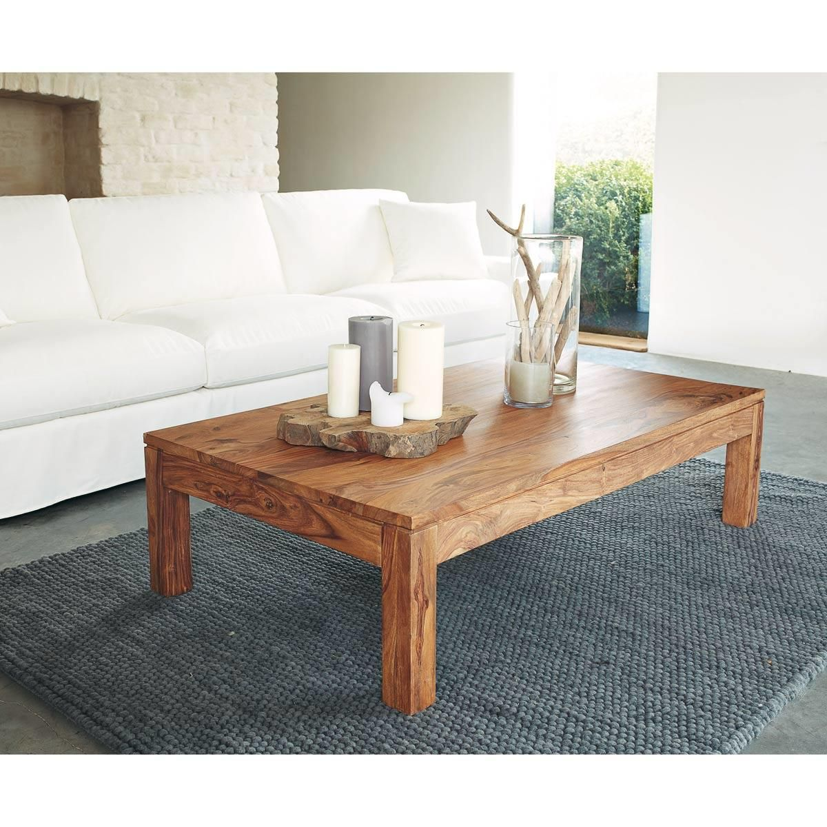 Tapis Gris Anthracite Industry 140x200 Table Basse Table Basse Rectangulaire Table Basse Bois