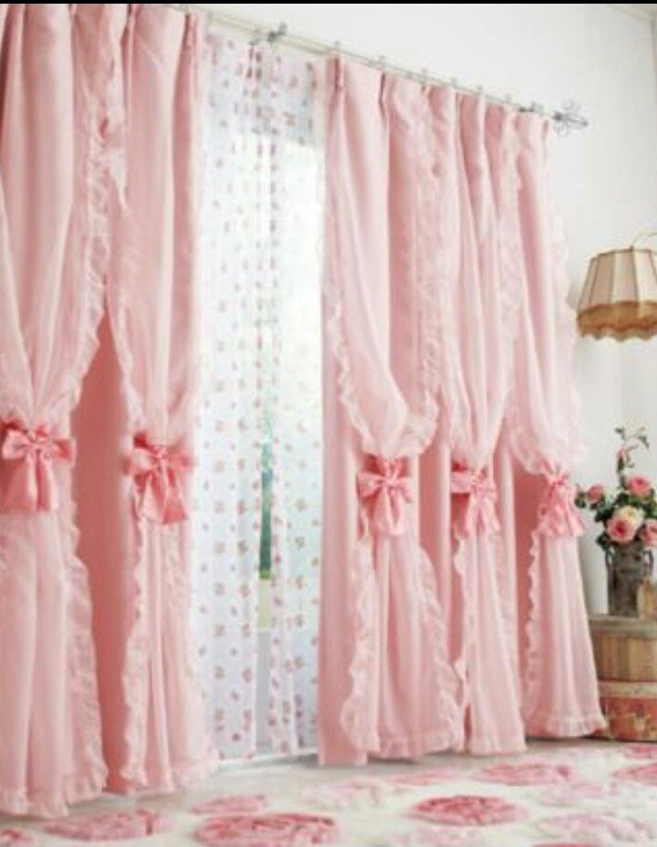 Cute curtains fit for my princess   curtains   Pinterest   Pink ...