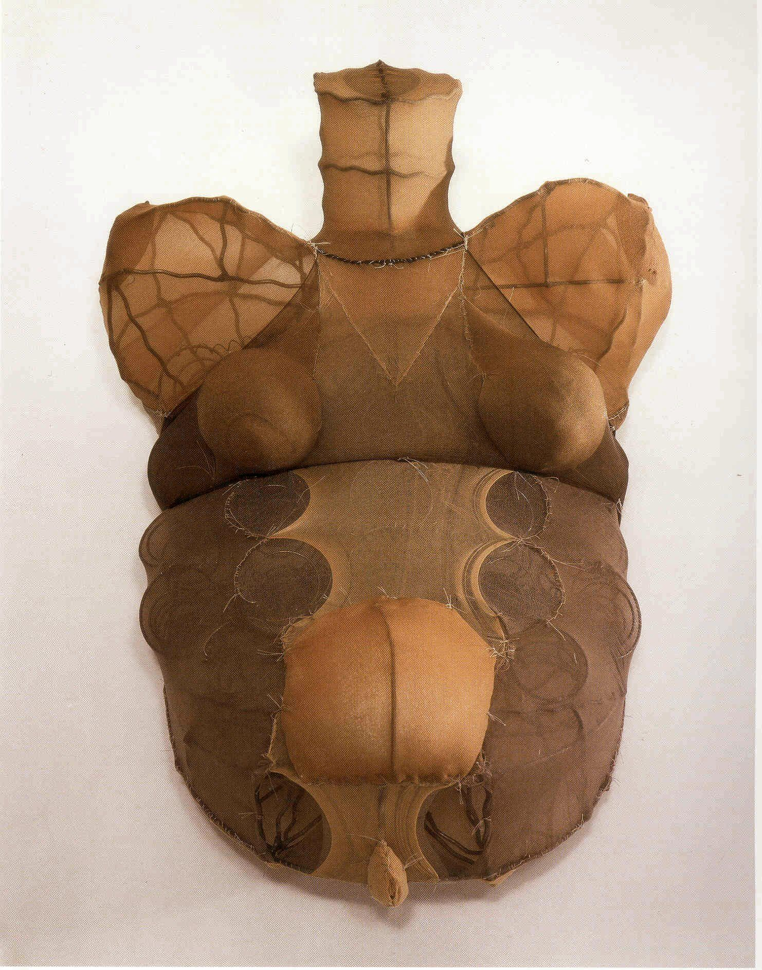 Louise Bourgeois.  Untitled 1998. Fabric and steel, 10 x 25 1/2 x 18 inches.