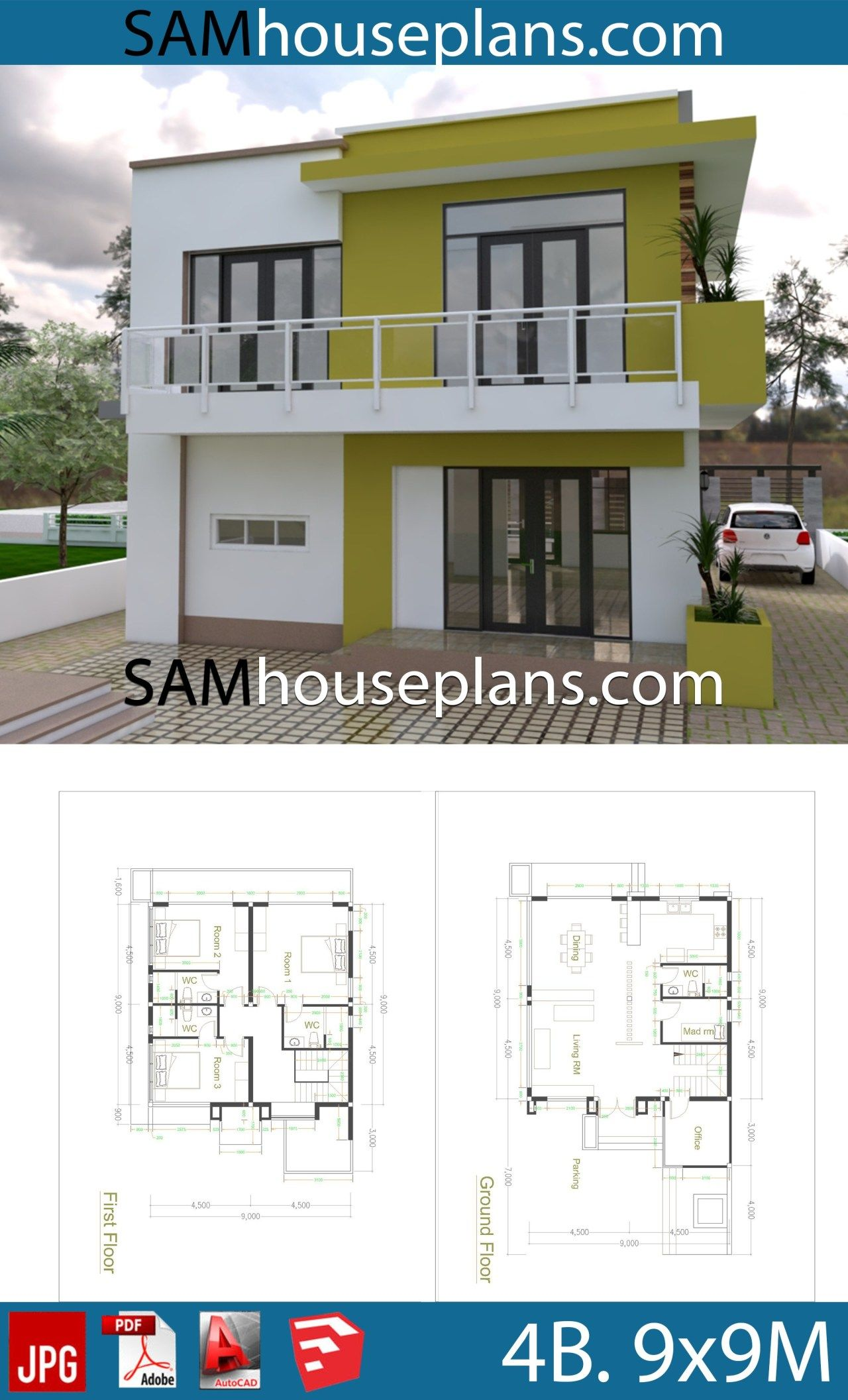 9x9 Room Design: House Plans 9x9 With 4 Bedrooms