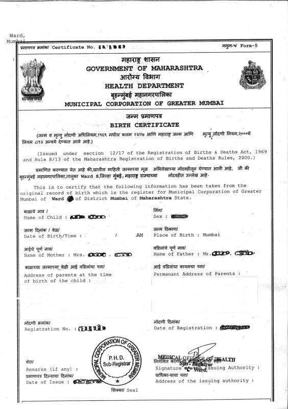How to apply for birth certificate in Mumbai? - Vakilsearch