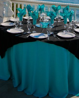 Black And Turquoise Wedding Colors Just Need To Add Alittle Splash Of Color  To The Flowers