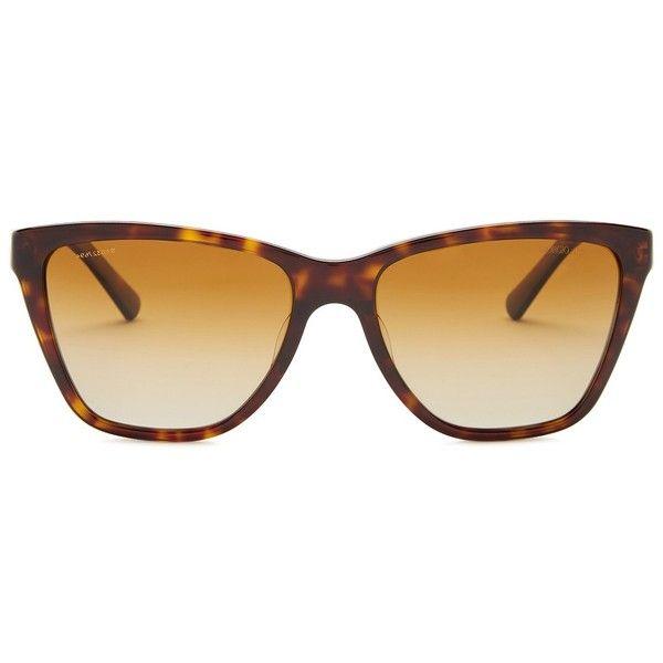 25a2d6993a Giorgio Armani Women s Inspired Polarized Cat Eye Retro Sunglasses ( 90) ❤  liked on Polyvore