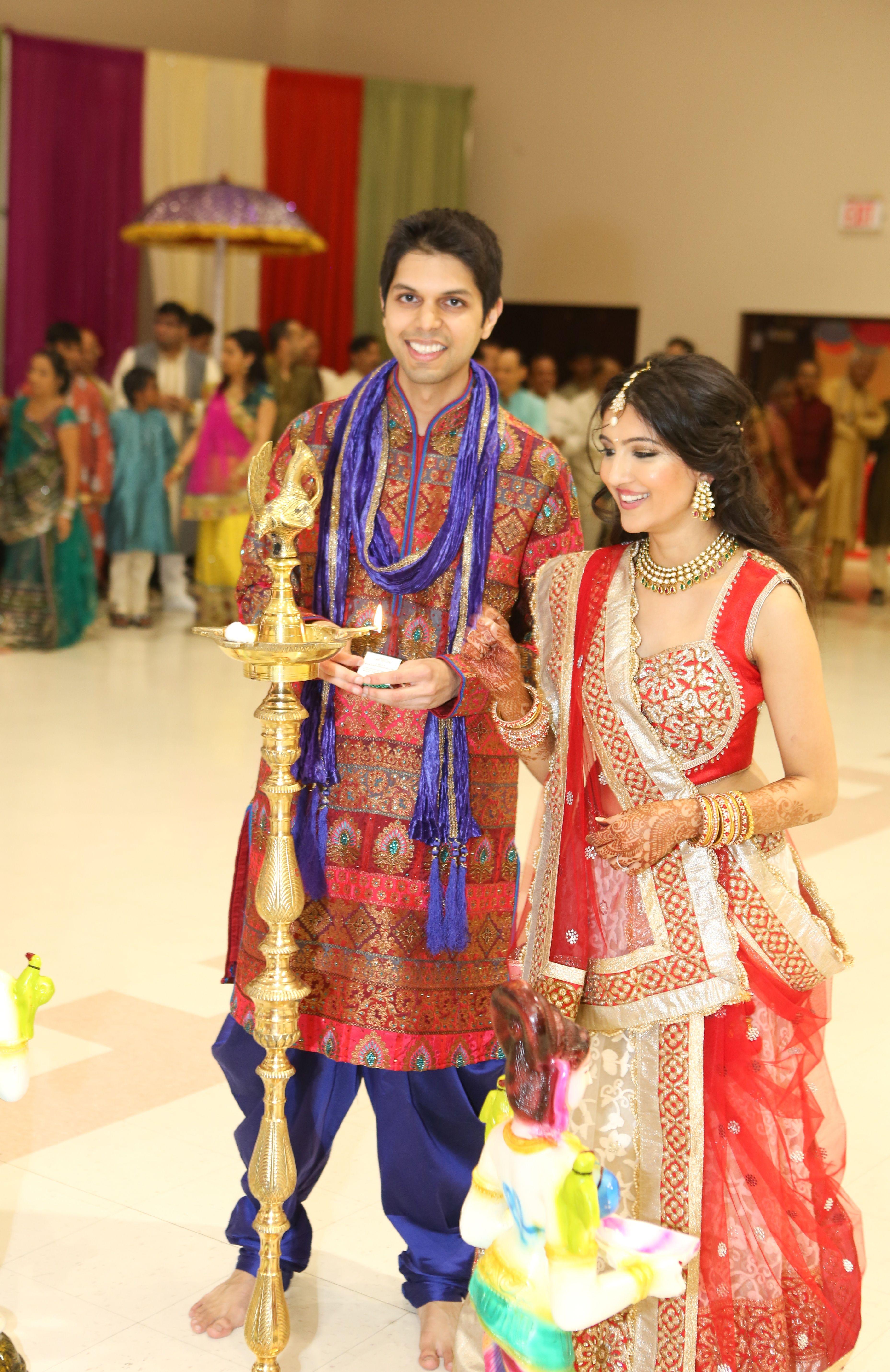 second wedding garba outfit bride and groom garba