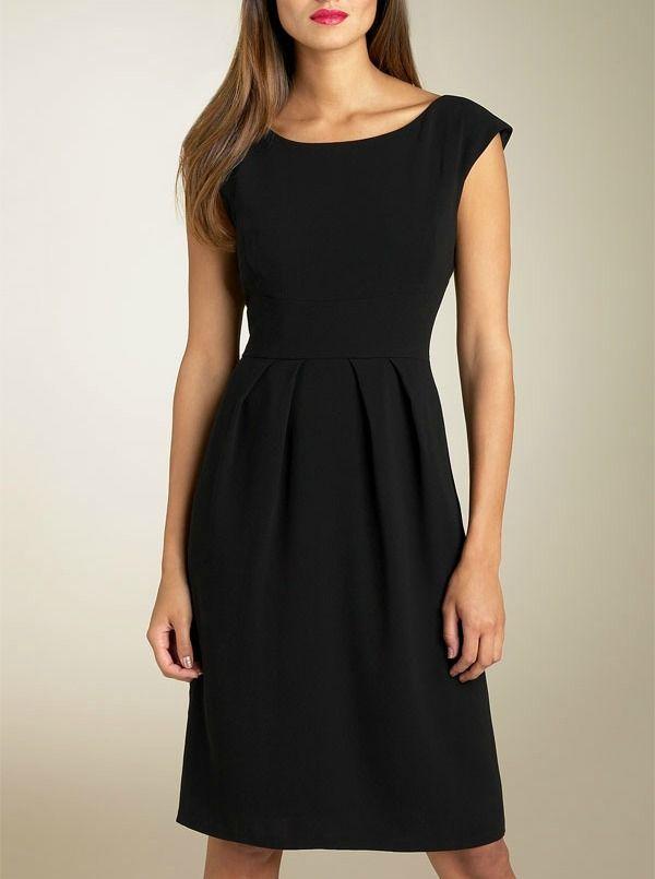 Crna Haljina Za Svaki Dan In 2019 Black Dress With Sleeves
