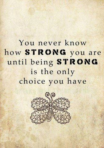 Keep strong...