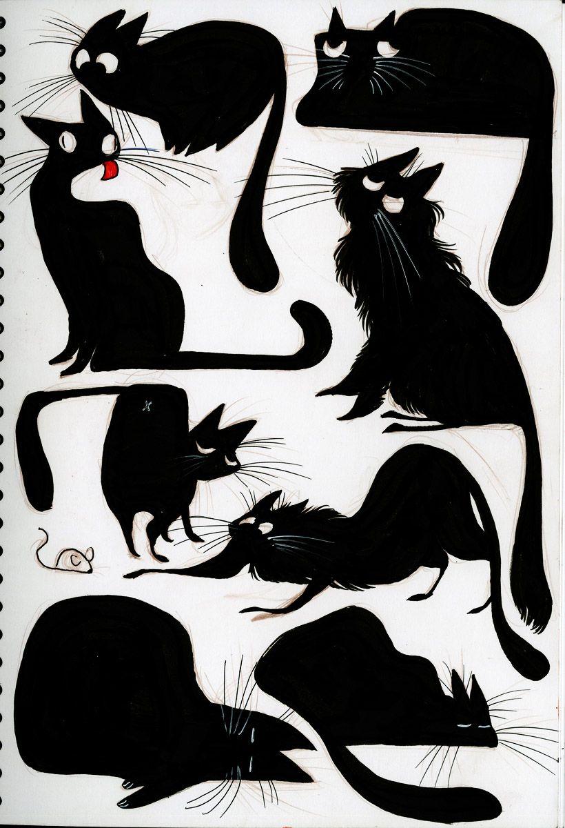 очень картинки для декупажа котики черно белые виды разных условиях