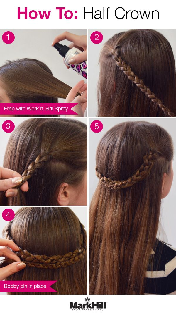 This Half Up Crown Braid Tutorial Is Sophisticated And Perfect For