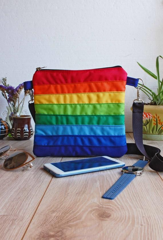 rainbow crossbody bag lgbt pride accessory gay lesbian pouch over rh hu pinterest com