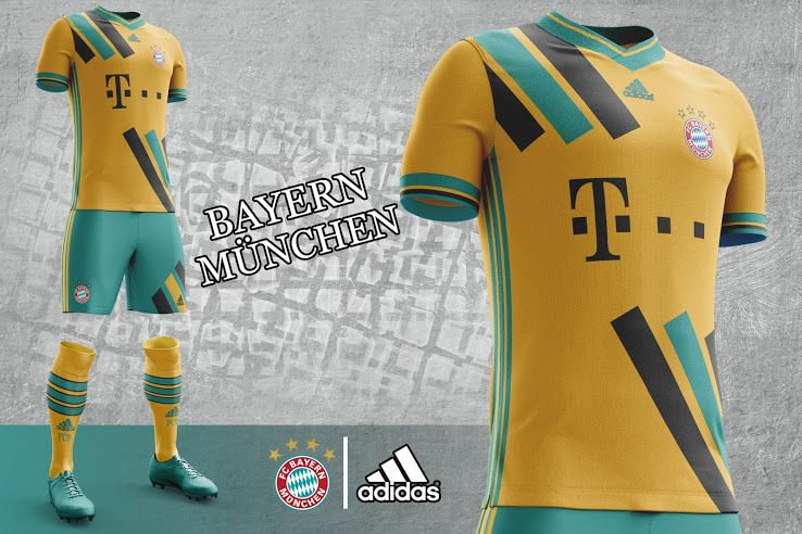 official photos edcaf 54eca Bayern München 17-18 Home, Away and Third Kit Concepts by ...