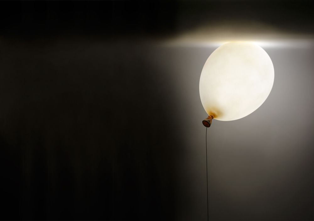 Balloon Lamp By Satoshi Itasaka Materials Frp Led Lamp Dimensions W200 H85 D130 Schwarzwald Stool Is Sold By Gallery Somewher Lamp Balloons Decor