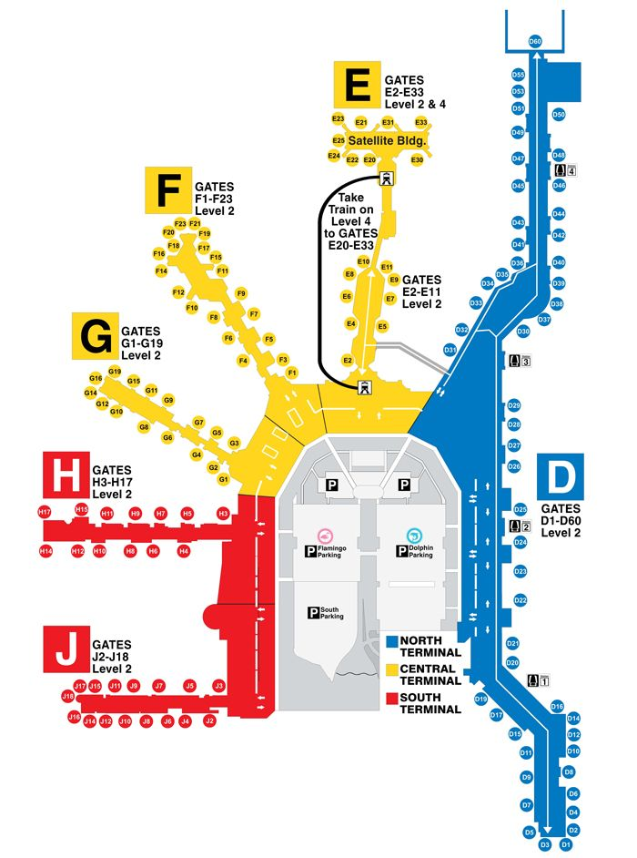 Miami International Airport Terminal Map Miami International Airport :: Map. Print this up before leaving  Miami International Airport Terminal Map