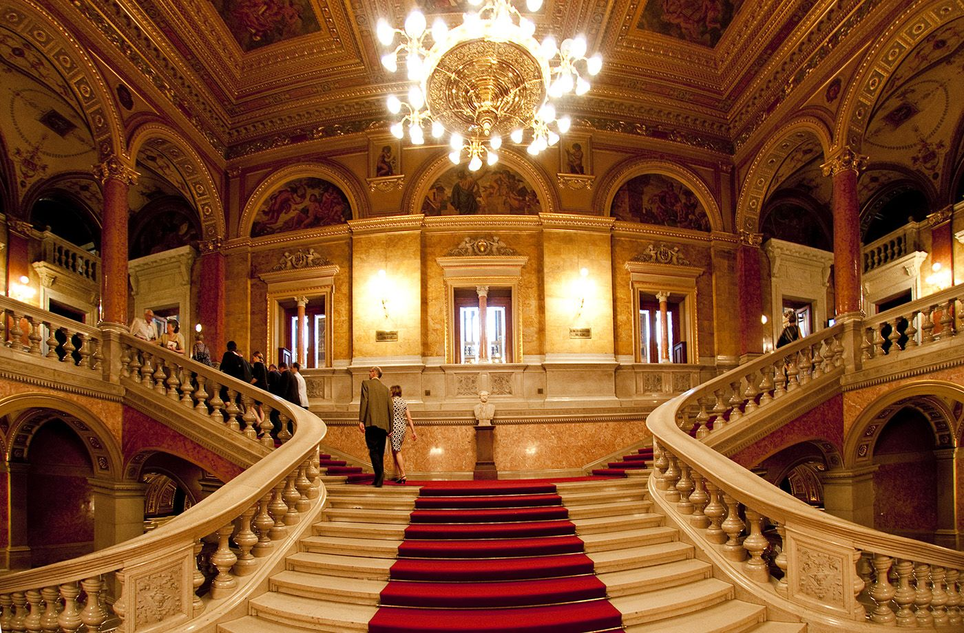 Hungarian State Opera House Budapest Hungaryczehszlovákszlovén