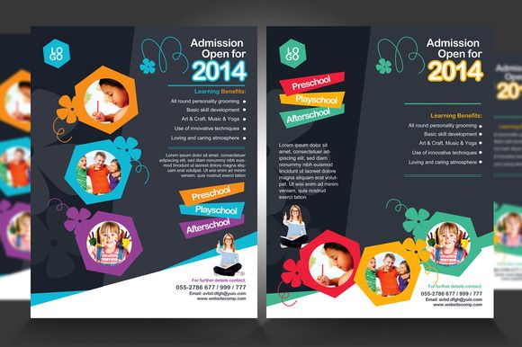 Junior School Promotion Flyers  Promotion Magazine Layouts And