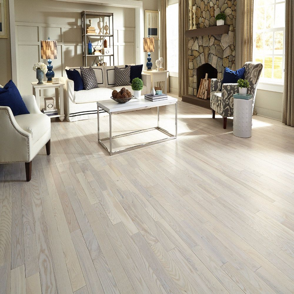 Bellawood 3 4 x 5 matte carriage house white ash lumber for Carriage house flooring