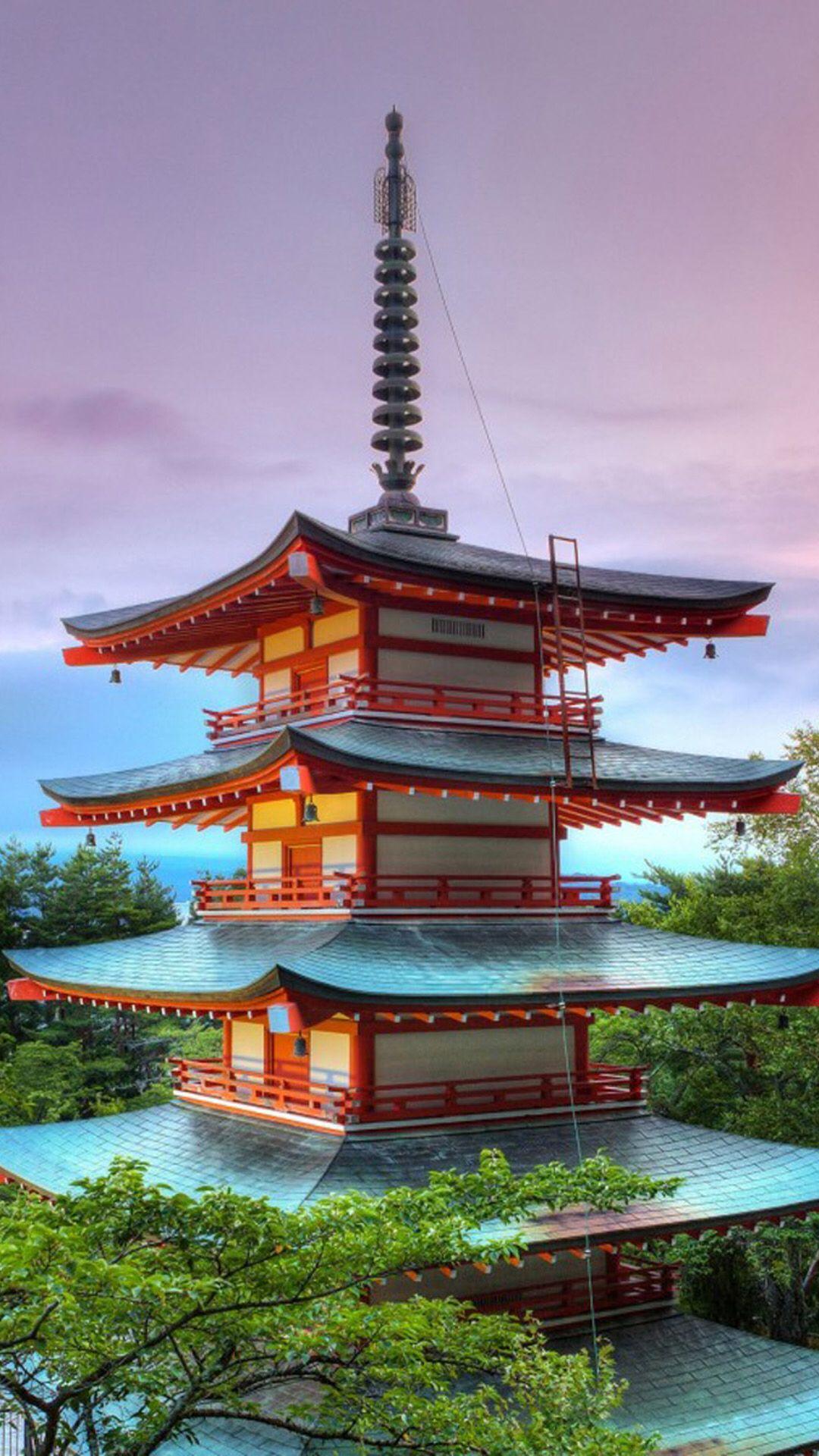 Japanese Pagoda Arquitectonico Paisajes Monumentos