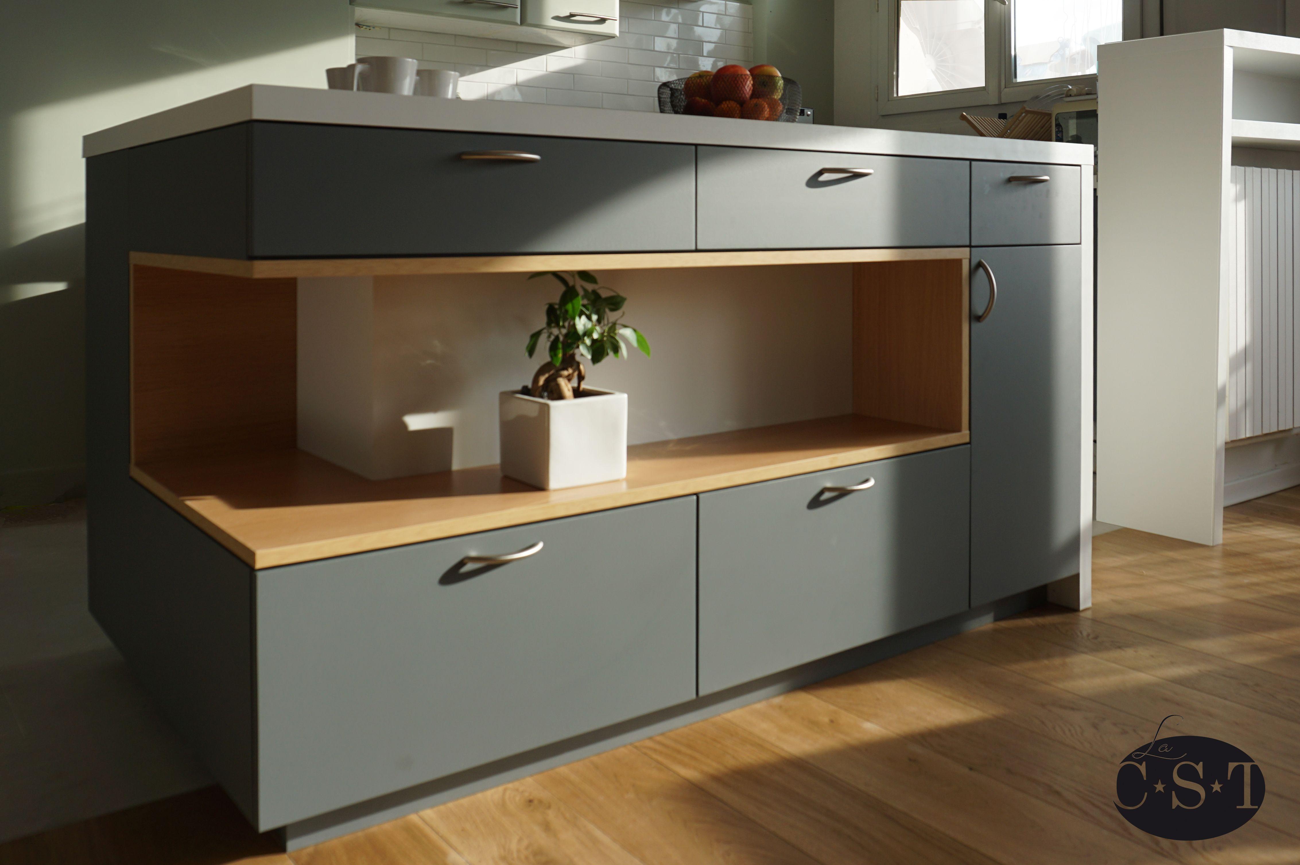meuble lot de cuisine la cst niche m lamin d cor ch ne meymac polyrey chants abs. Black Bedroom Furniture Sets. Home Design Ideas