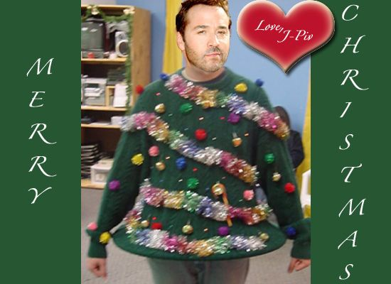 Jeremy Piven Wearing The 9 Ugliest Christmas Sweaters Of All Time ...