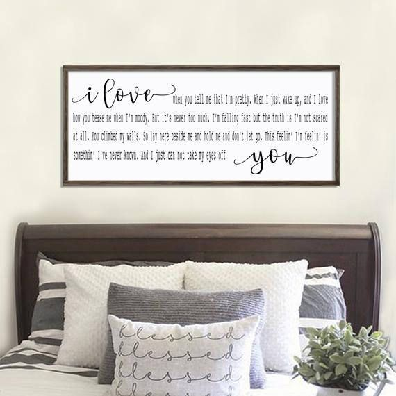 Incroyable Bedroom Wall Decor, Wedding Song Lyric  Cant Take My Eyes Off You By Lady  Antebellum I Love When You Tell Me That Im Pretty When I Just Wake Up And I  Love ...