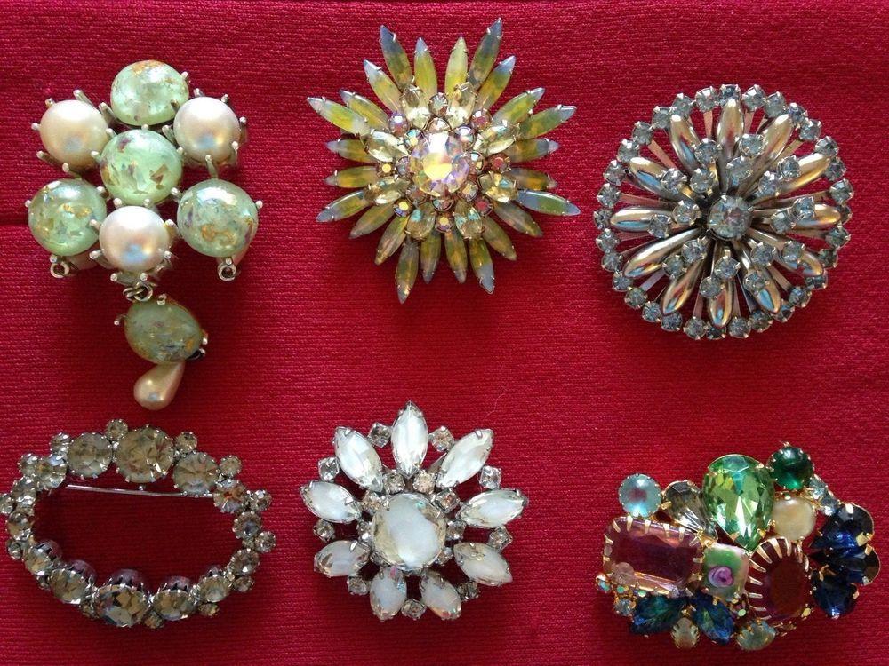 Vintage Costume Jewelry Lot Of 6
