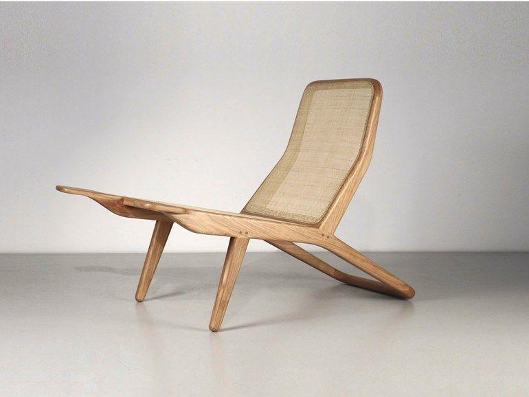 Silla de playa de fresno con brazos BARCA by Branca-Lisboa diseño - sillas de playa