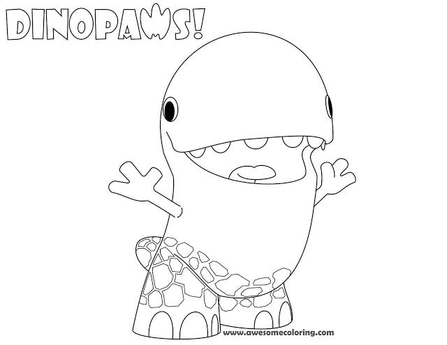 Download Or Print Awesome Dinopaws Tony Coloring Page Create A Fun Activity For Kids Who