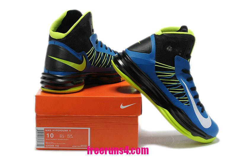 newest collection cb9fd 54bc4 Cheap Nike Lunar Hyperdunk 2012 Royal Blue Neon Green White 535359 102  Basketball Shoes Sale 2013 Outlet