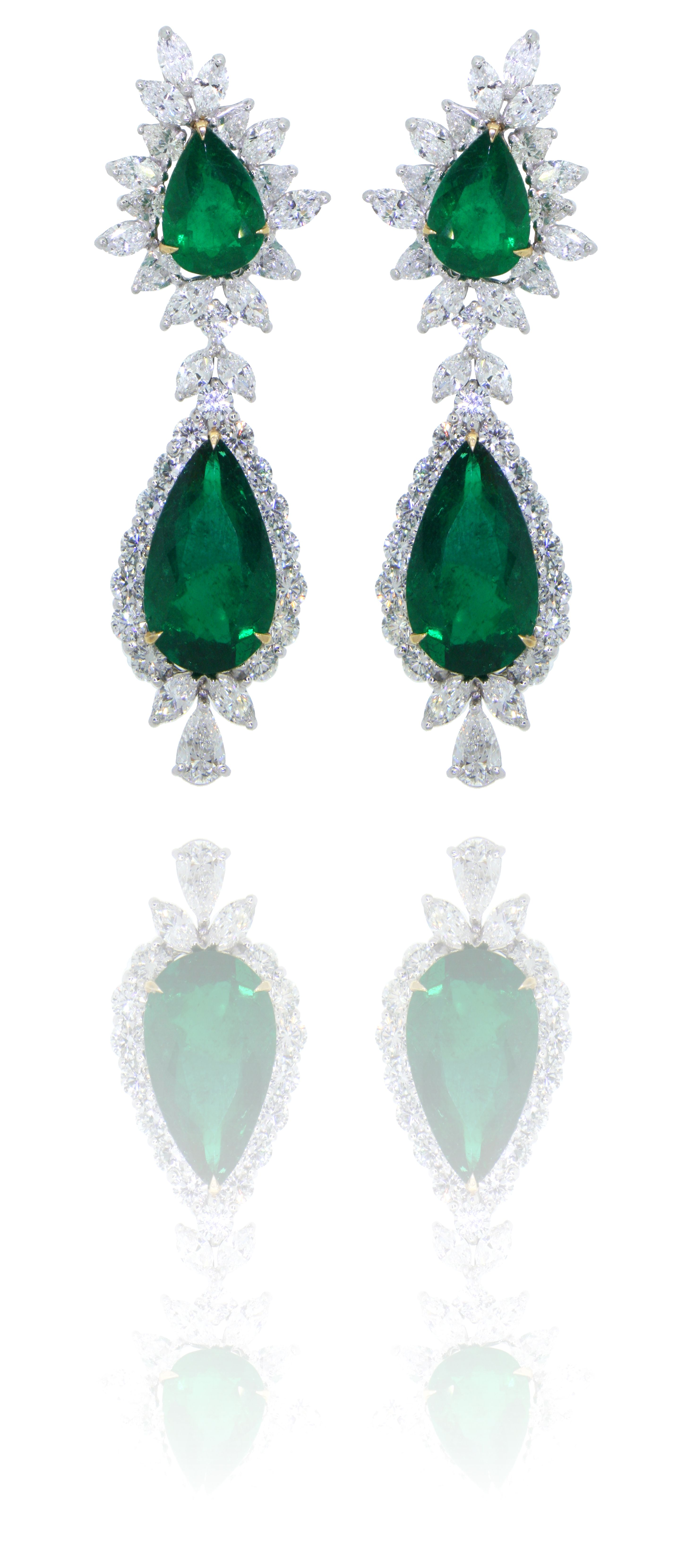 #Emerald & #Diamond #Earrings - Available at A.R.T. #Jewelry on #Worth #Avenue in #Palm #Beach