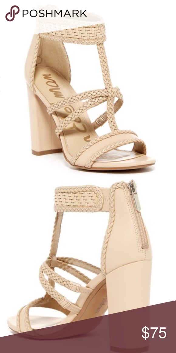 f26b32e783a36 Sam Edelman Yordana T-strap sandal NWOT NWOT. Braided T-strap and a woven  ankle cuff relax a beautiful tall sandal lifted skyward by a towering  demi-block ...