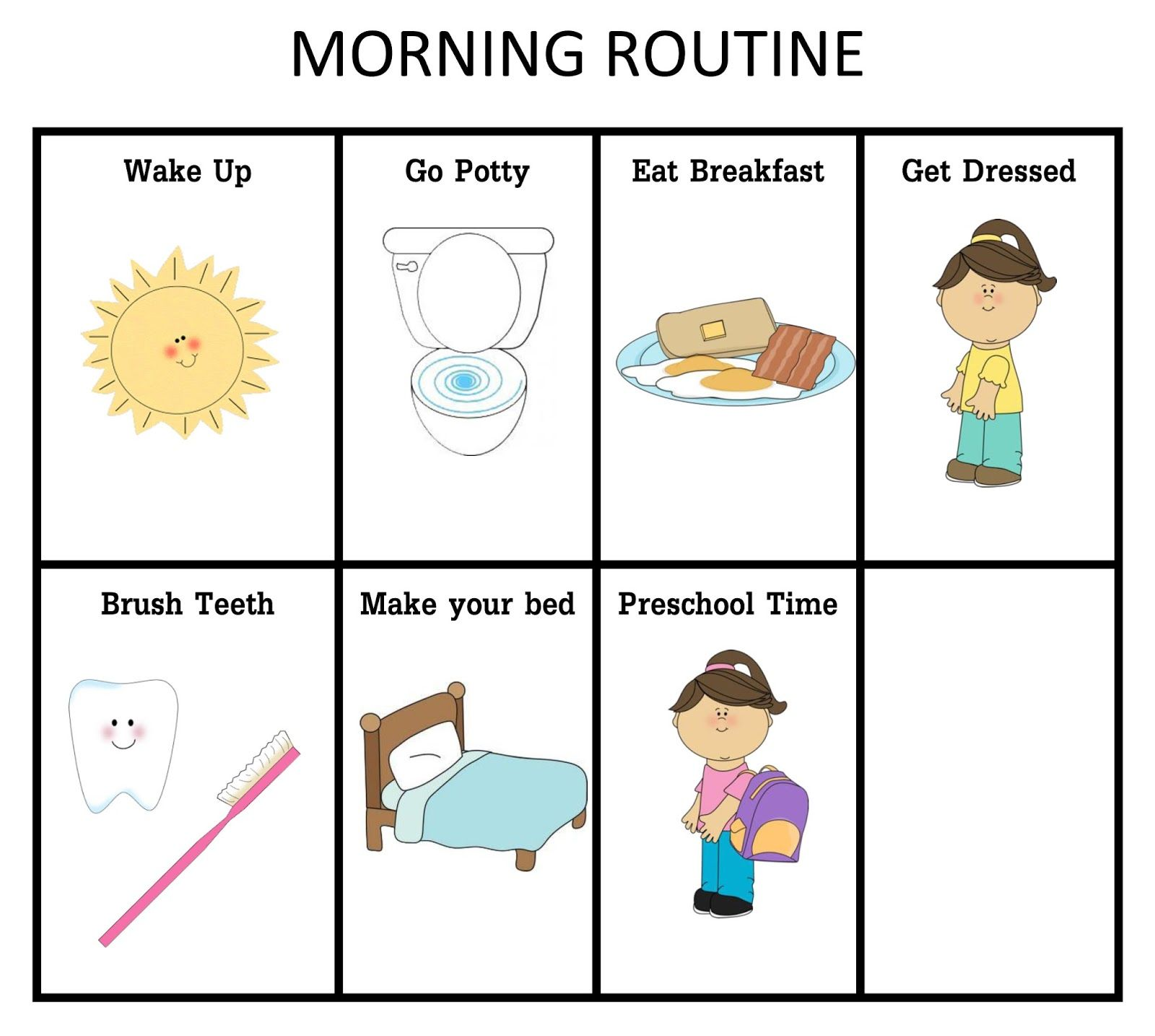 Our Home Creations Morning And Nightime Routine Charts