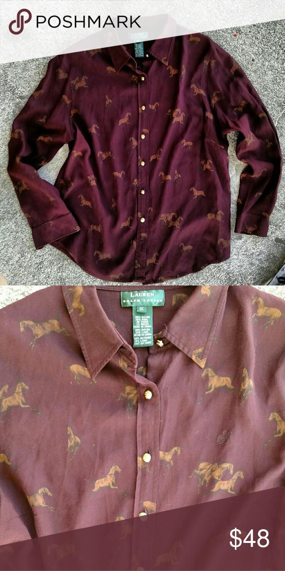 "Ralph Lauren equestrian shirt. Size XL/1X In excellent condition!. Size 1X Length 27"" Armpit to armpit 22"" Ralph Lauren Tops Button Down Shirts"