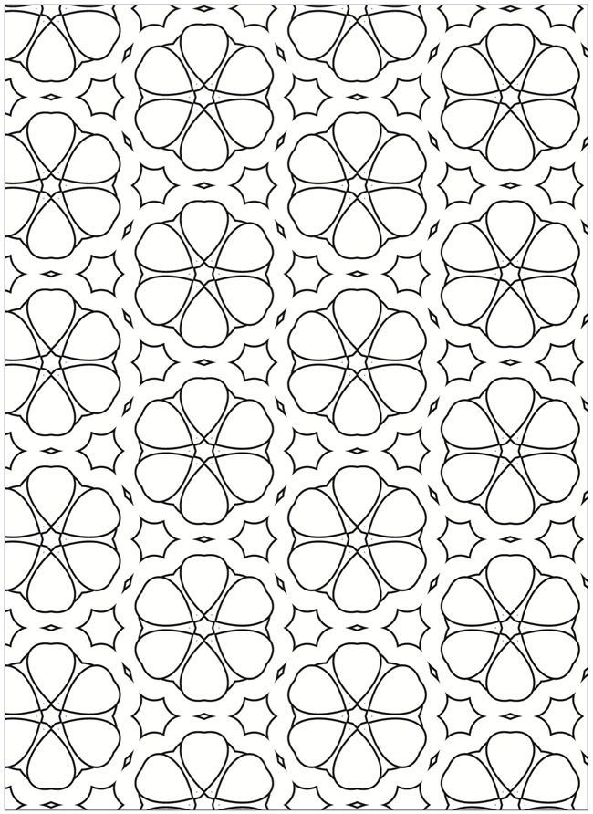Creative Haven Terrific Tessellations Coloring Book SAMPLE