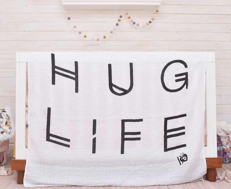 hug life quote blanket for baby boy baby girl toddler muslin