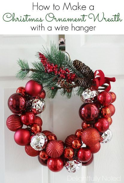 How To Make A Christmas Ornament Wreath With Wire Hanger Decorations Crafts