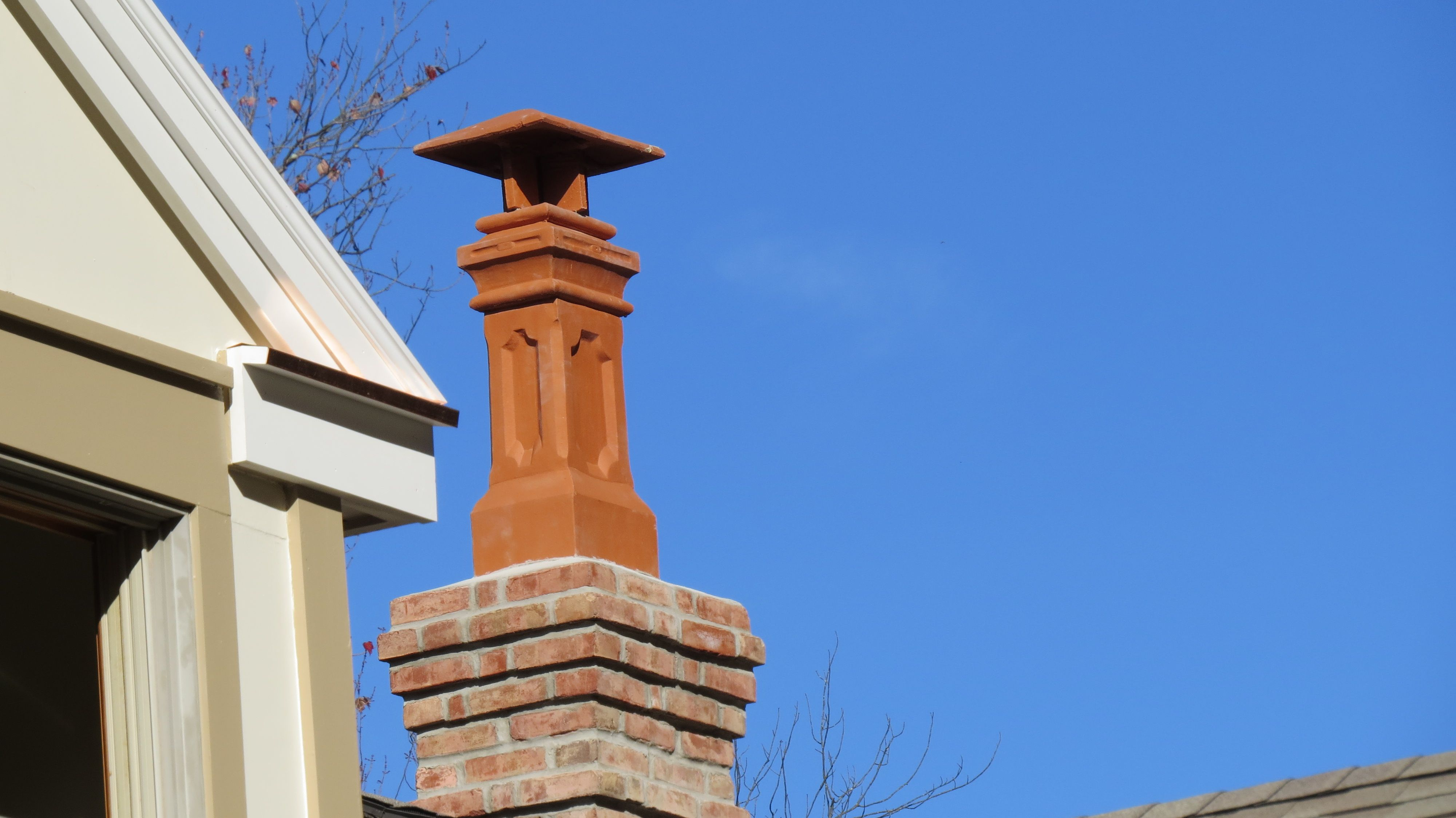 notice the stately lines of the govenor clay chimney pot with