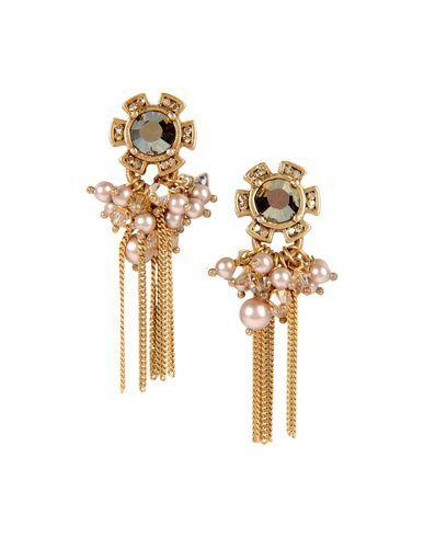 DANIELA FARAH  Earrings  $267.00   Composition: Brass, Swarovski  Details: gold effect, beaded detailing