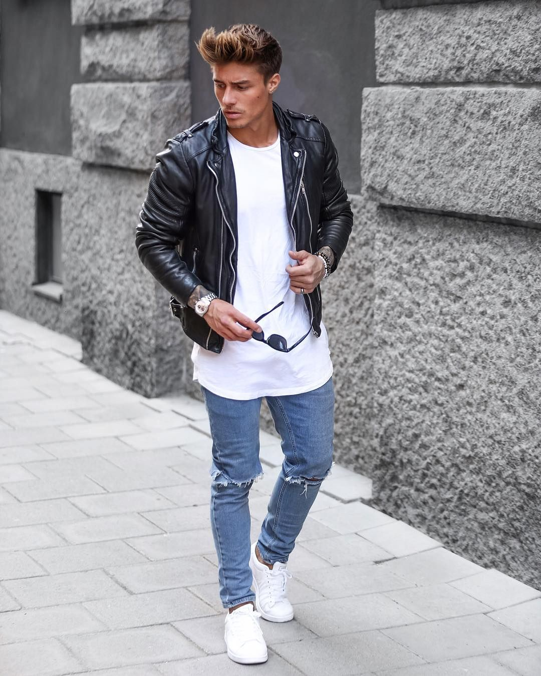 Instagram Photo By J O H N N Y E D L I N D May 27 2016 At 2 13pm Utc Ripped Jeans Men Johnny Edlind Mens Outfits [ 1349 x 1080 Pixel ]