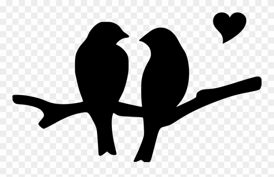 Love Birds Silhouette Clip Art Png Download Bird Silhouette Art Bird Silhouette Bird Stencil