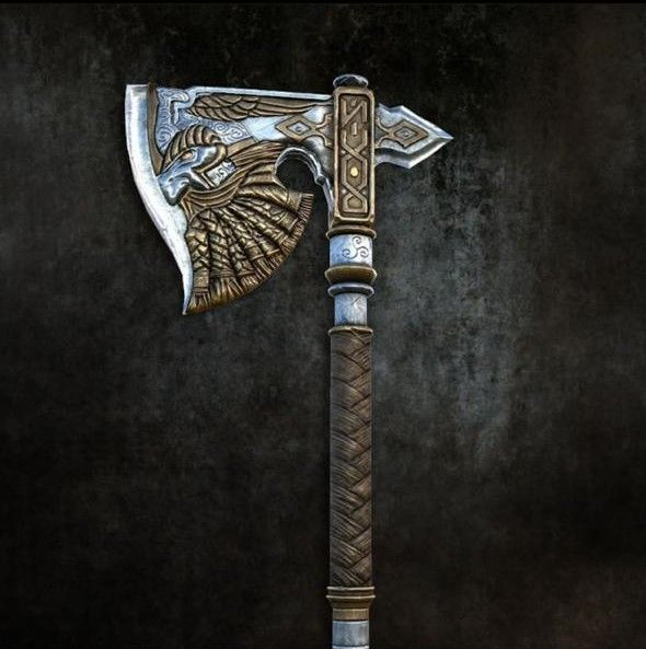 Gotrek and Felix/Dwarfs/Viking Axe - Hand Forged With Best D2, Carbon Steel & Olive Wood Handle